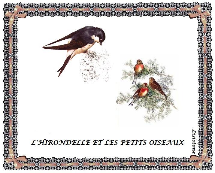 Poeme l 39 hirondelle et les petits oiseaux la fontaine for Les petits oiseaux